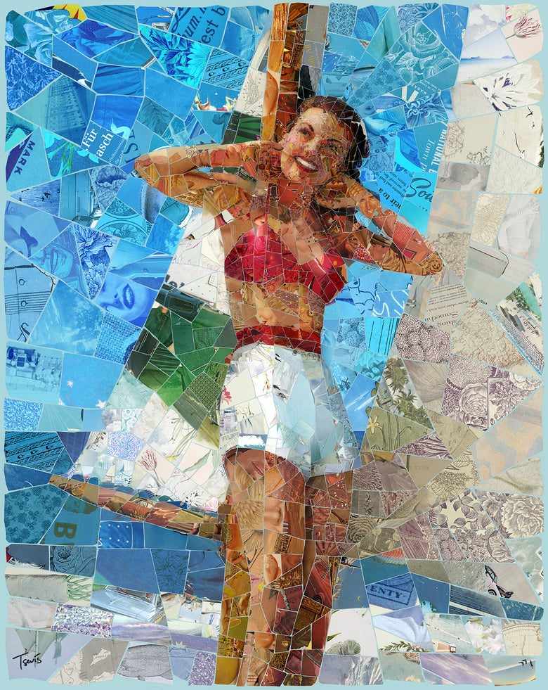 "Image of ENDLESS SUMMER ""Sail away with me"" (Limited edition digital mosaic on canvas)"