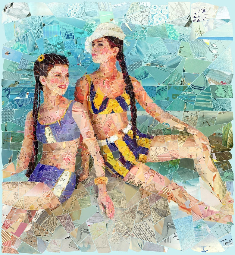 "Image of ENDLESS SUMMER ""On the Aphrodite's rock"" (Limited edition digital mosaic on canvas)"