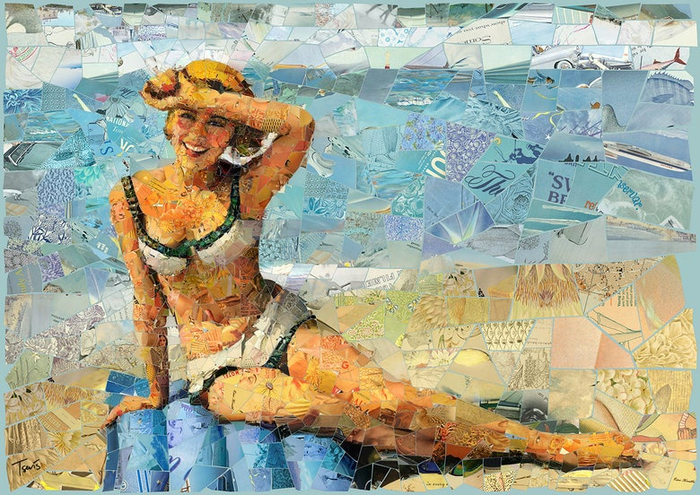 "Image of ENDLESS SUMMER ""Single is my mattress"" (Limited edition digital mosaic on canvas)"