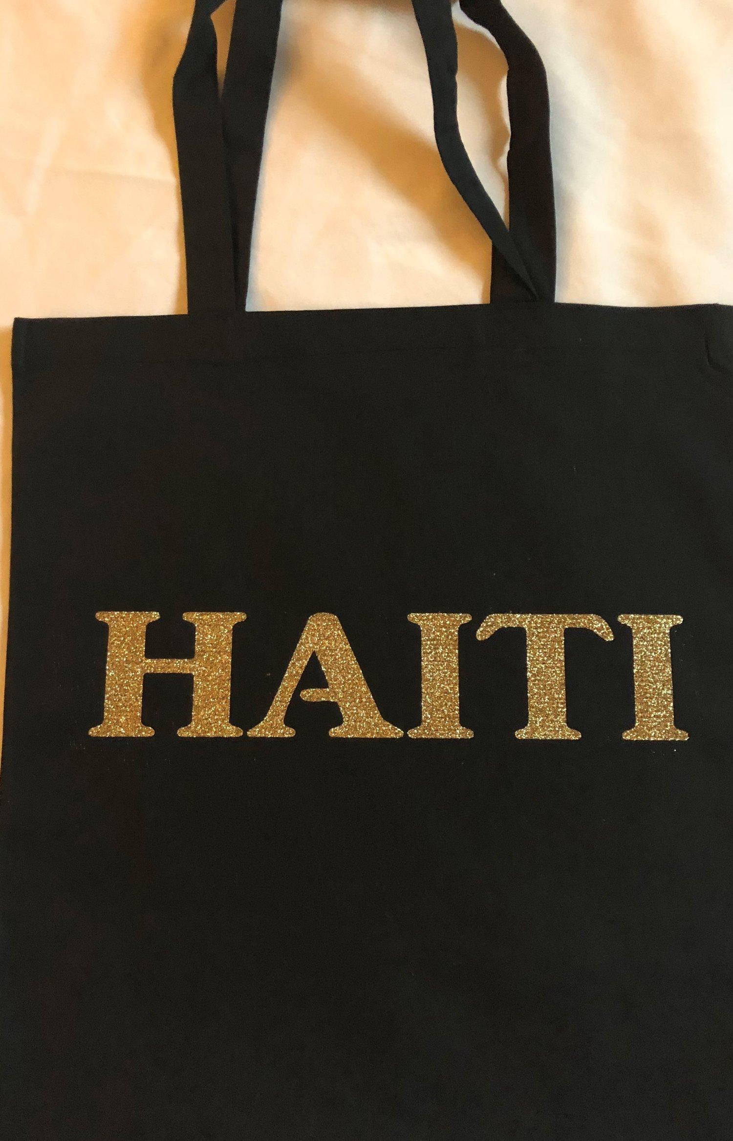 Image of Black/gold Haiti Tote Bag