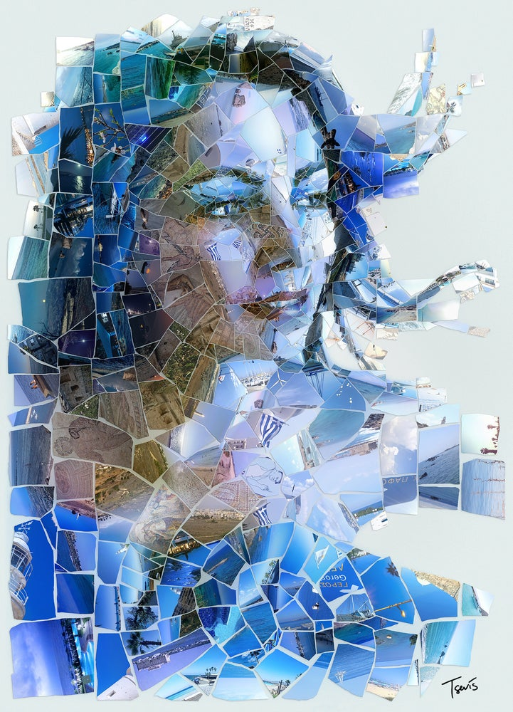 "Image of ""Paphos"" (Limited edition digital mosaic on canvas)"