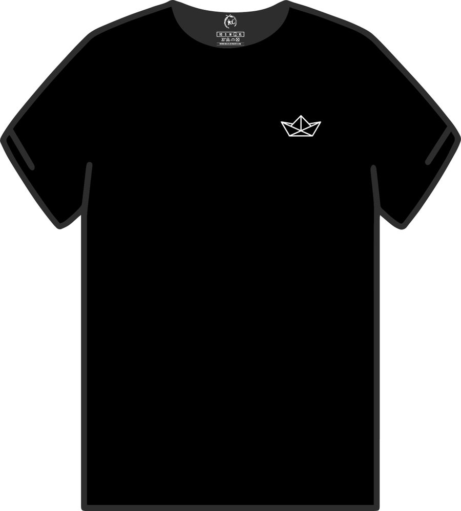 Image of PAPER BOAT (BUILD YOUR OWN DREAM SERIES) BLACK UNISEX LIMITED
