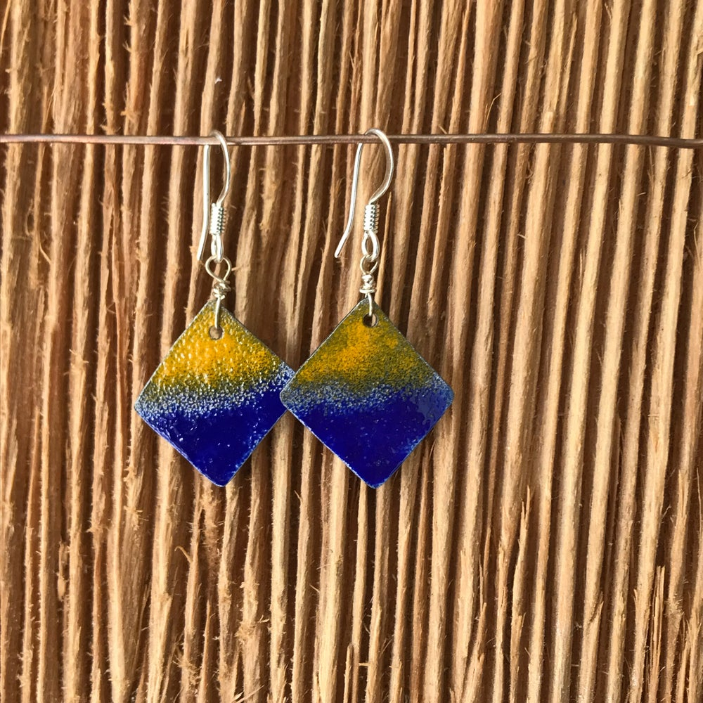 Image of Pacific Sunrise- Torch Enameled Earrings
