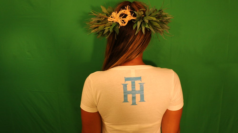 Image of Typical Hawaiians Say Aloha Is The Way Wahine's White T Shirt