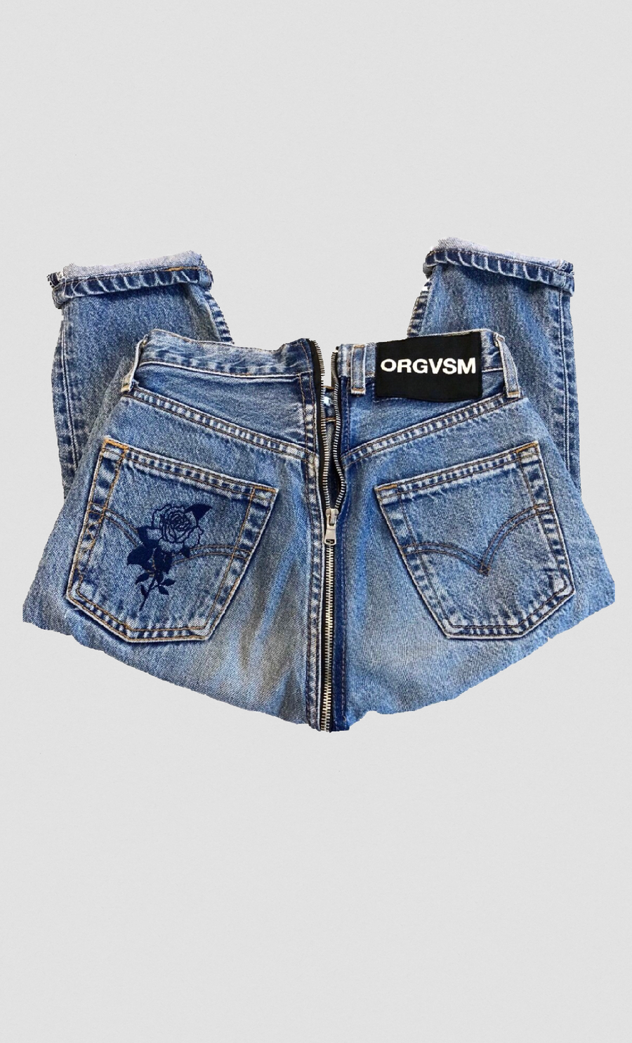 Image of ORGVSM //RETRO ZIP JEANS