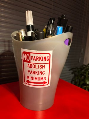 Image of ABOLISH PARKING MINIMUMS Sticker