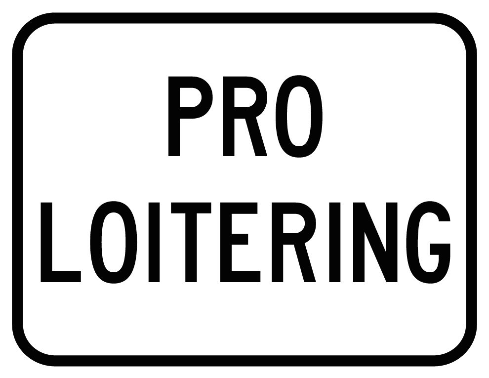Image of PRO-LOITERING Sticker