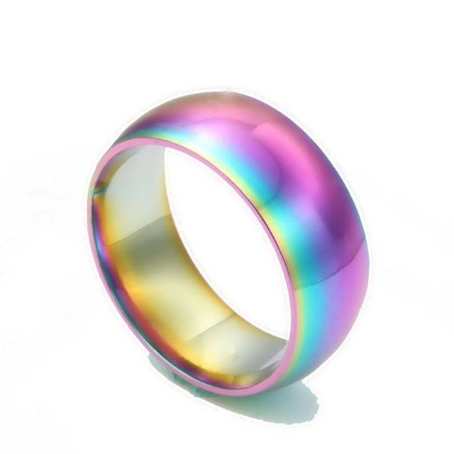 Image of 8mm rainbow ring