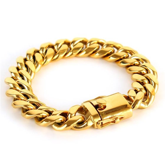 Image of Stainless Steel Cuban Link Bracelet