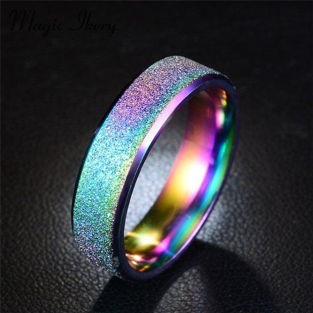 Image of rainbow sparkle ring