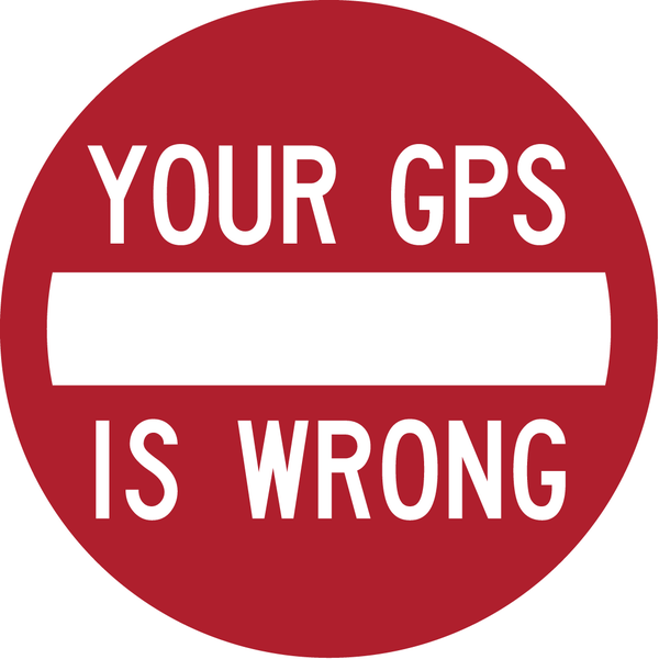 Image of YOUR GPS IS WRONG Sticker