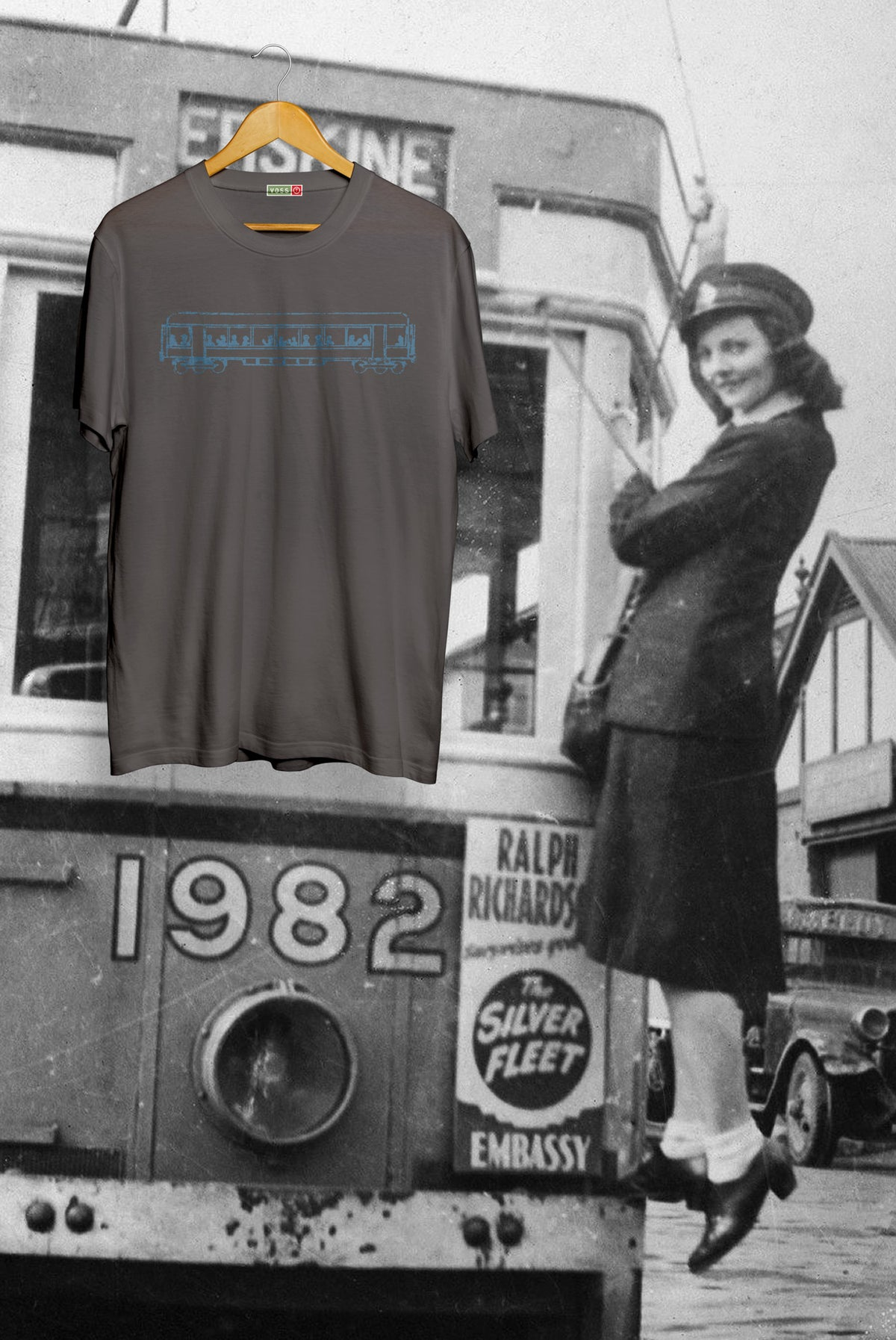 Image of Tram Tee - Charcoal