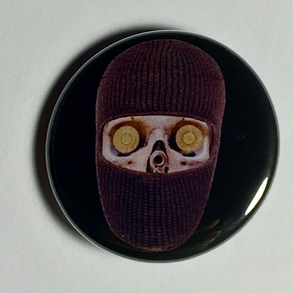 "Image of FOH BLACK MASK 1.25"" PINBACK"
