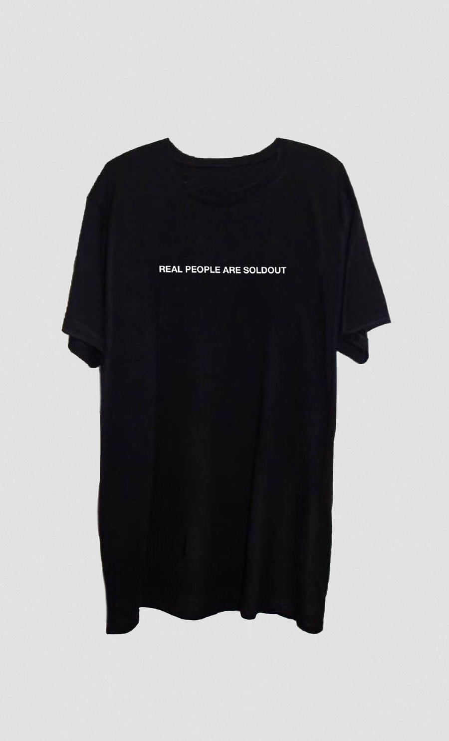 Image of REAL PEOPLE ARE SOLDOUT BLACK TEE