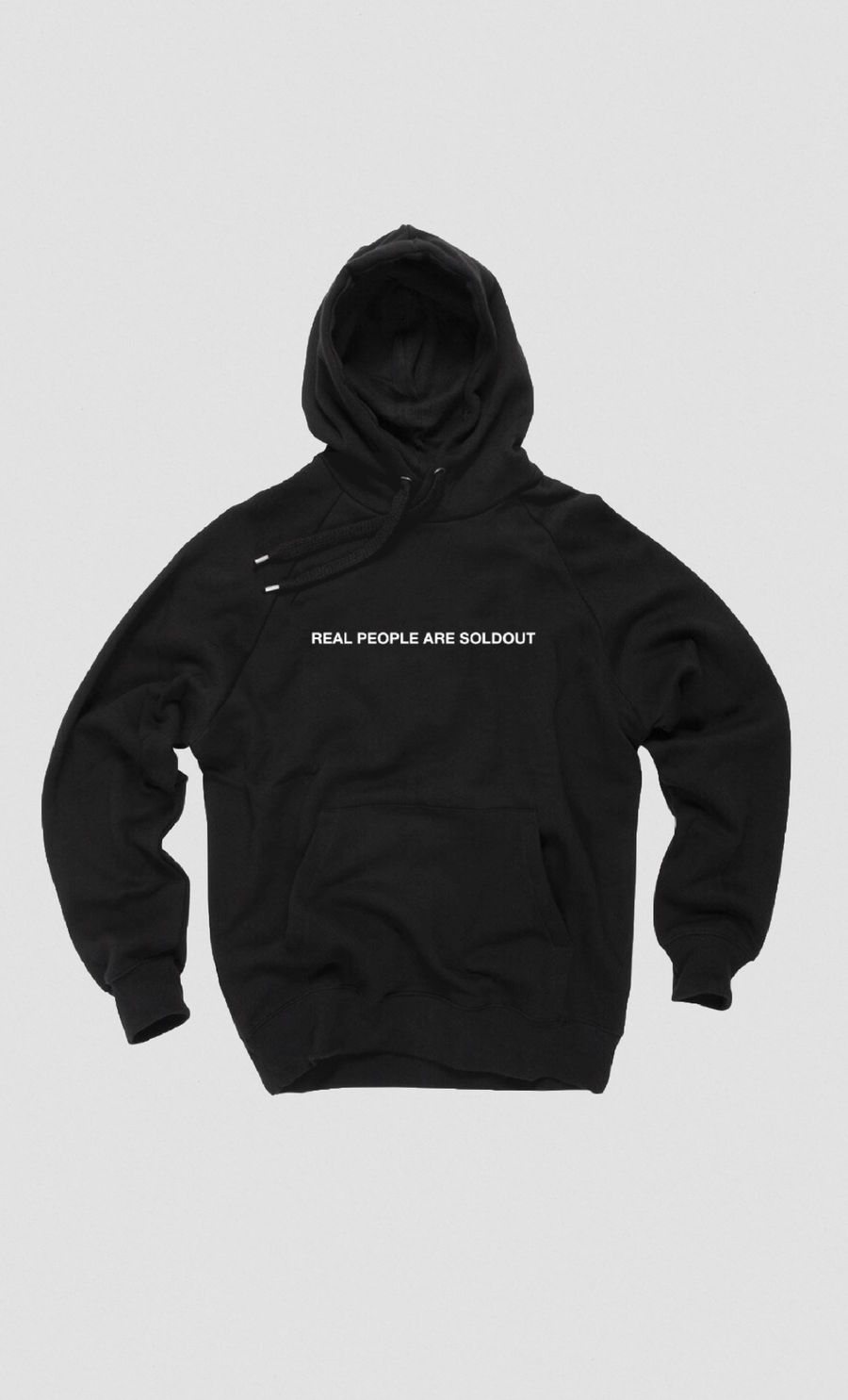 Image of REAL PEOPLE ARE SOLDOUT BLACK HOODIE //PRE ORDER