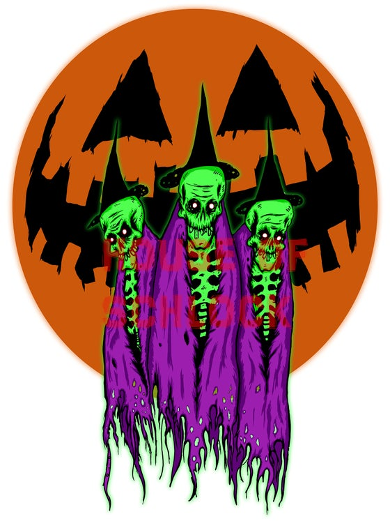 Image of Witchy Three Sticker