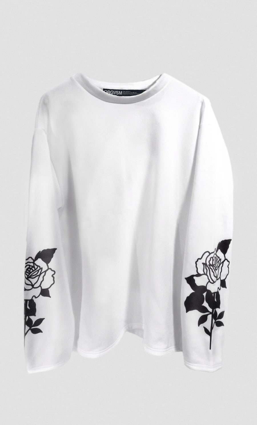 Image of ORGVSM WHITE LONG SLEEVE //PRE ORDER