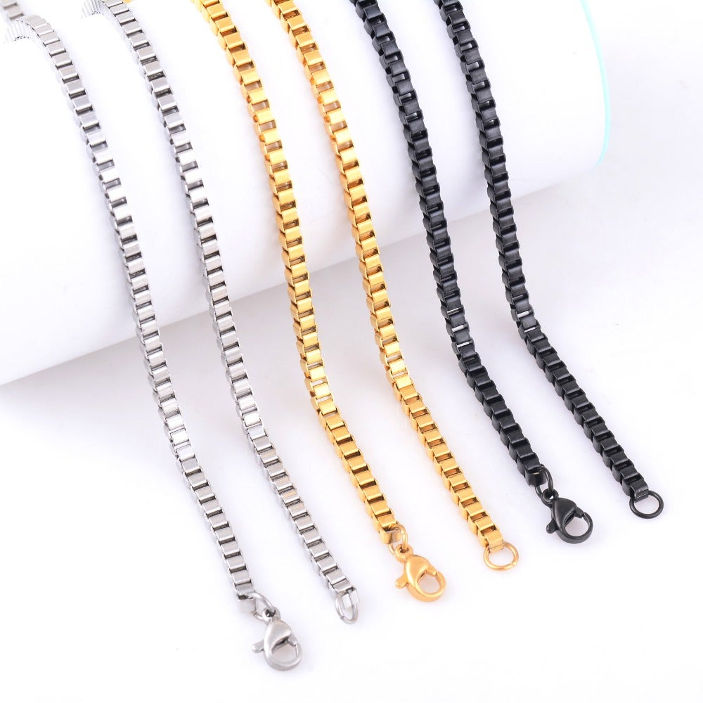 Image of boxchain necklace