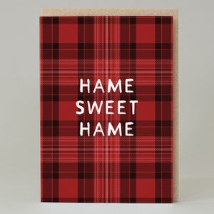Image of Tartan hame sweet hame (Card)