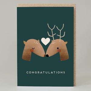 Image of Deer congratulations (Card)