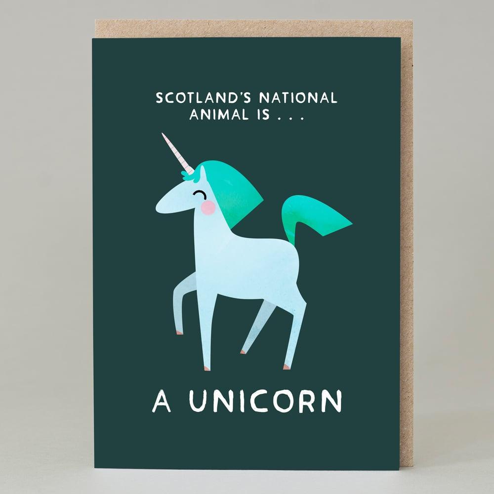 Image of Unicorn national animal (Card)