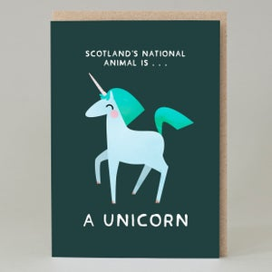 Image of Unicorn national animal (Card)