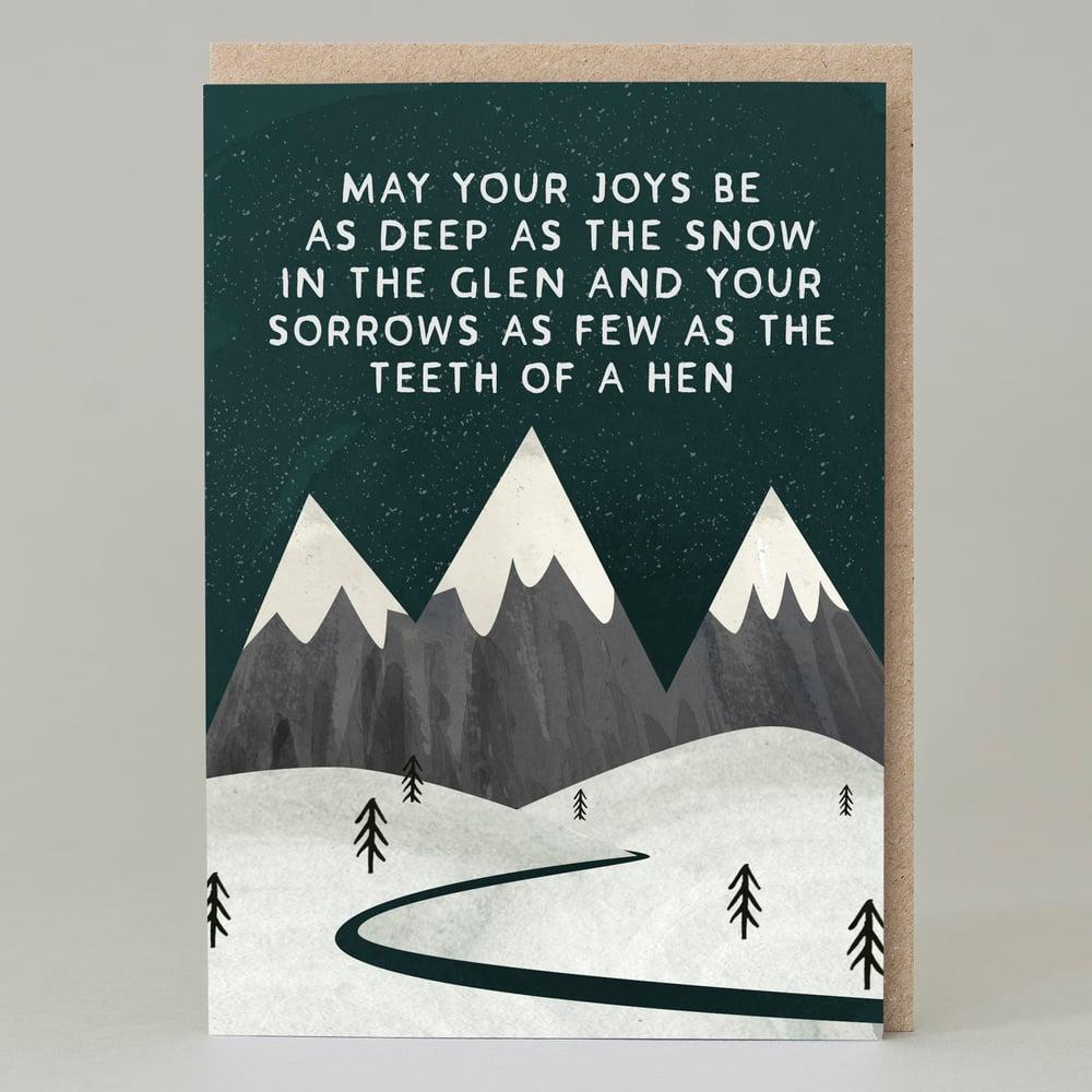 Image of Joys be as deep as the snow (Card)
