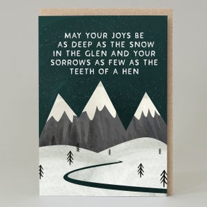 Image of Joys be as deep as the snow (Card)