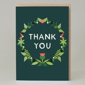 Image of Wreath thank you (Card)