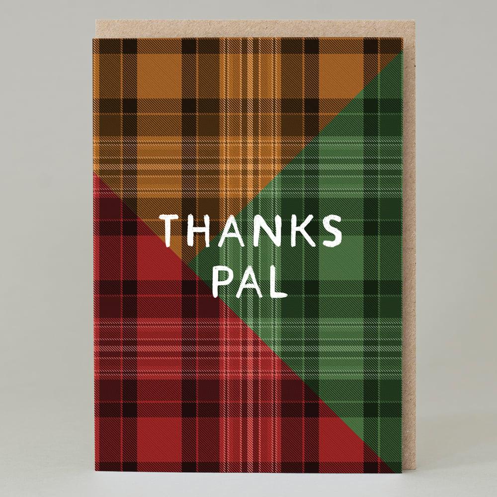 Image of Tartan 'thanks pal' green (Card)