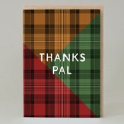Image of Tartan 'thanks pal' green (Card)