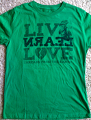 Image of Live Learn Love | Organic Cotton | Green