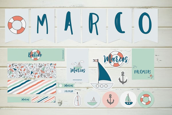 Image of Pack imprimible barcos