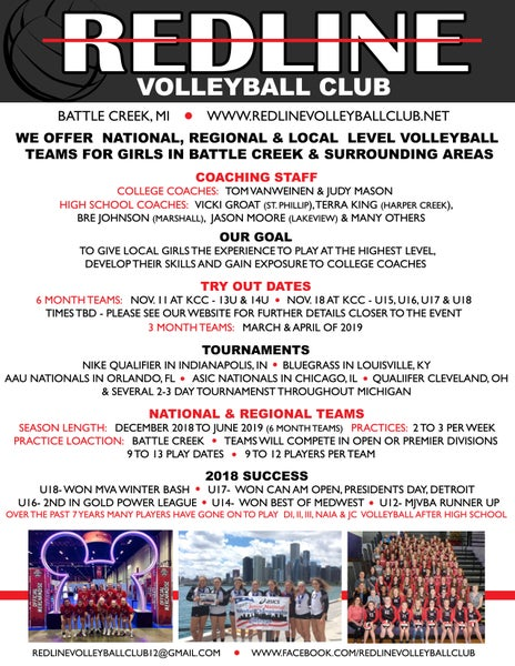 Image of Redline Volleyball Flyer