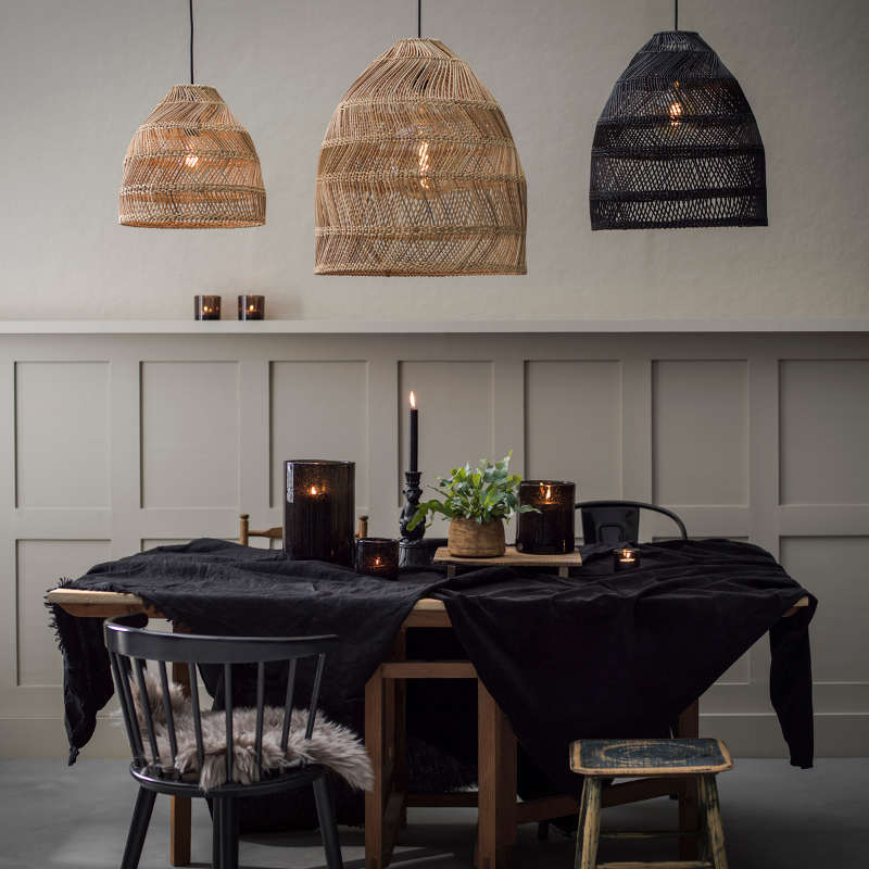 Image of LARGE RATTAN PENDANT LAMPSHADE