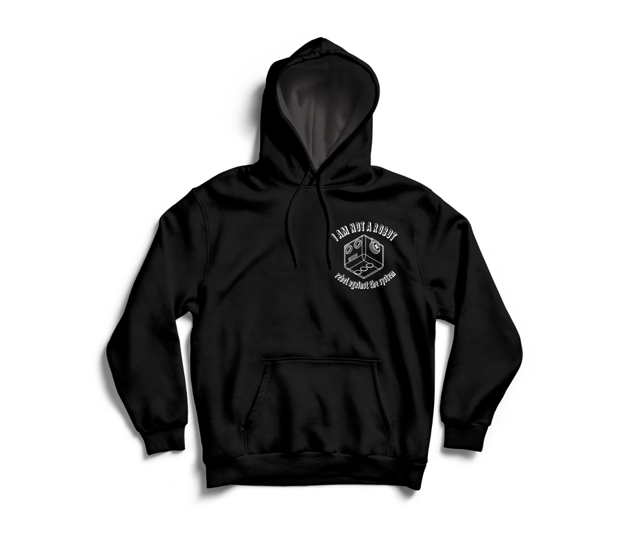 Image of I Am Not A Robot Black Hoodie