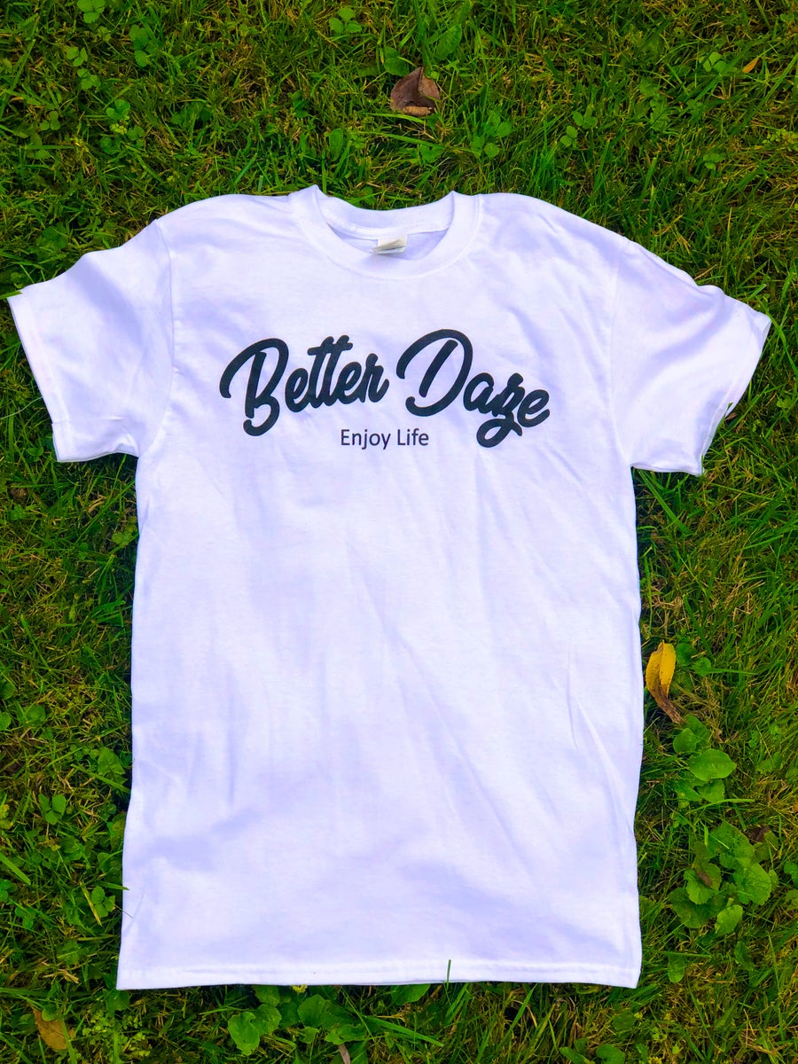 Image of White Better Daze Crewneck T-shirt
