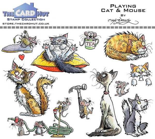 Playing Cat & Mouse - Stamp Set