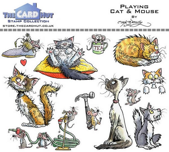 Image of Playing Cat & Mouse - Stamp Set