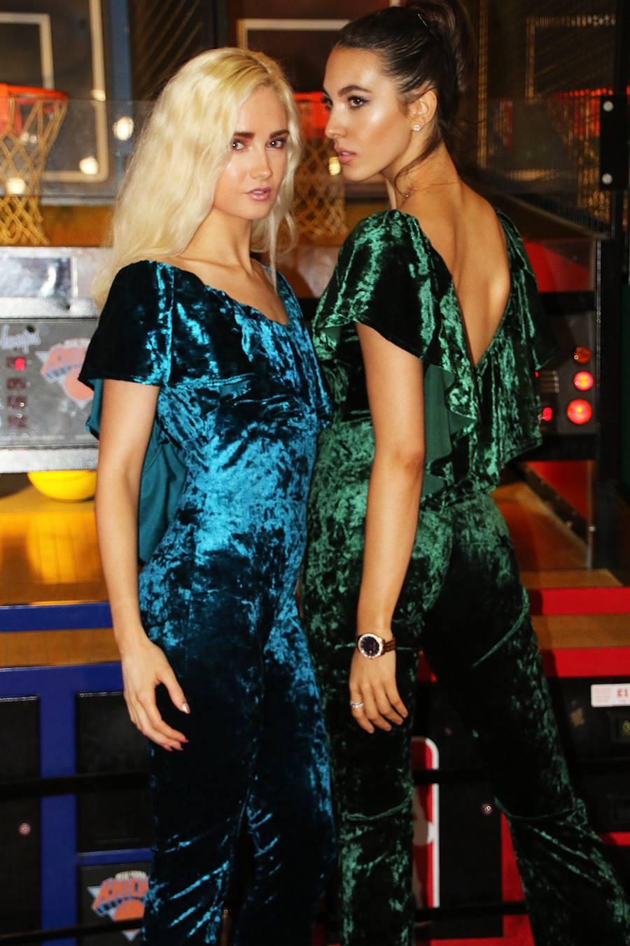 Image of Velvet Frill Jumpsuit