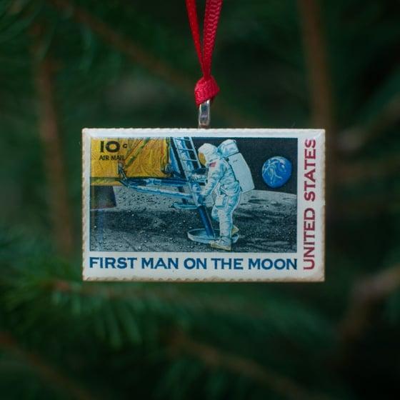 Image of Moon Landing Stamp