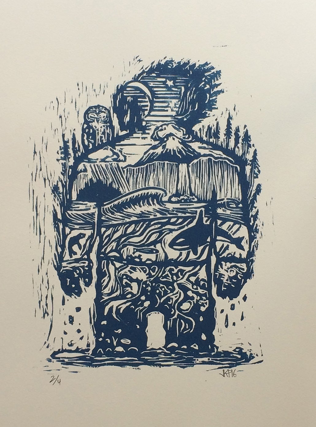 Image of Planet One Woodcut