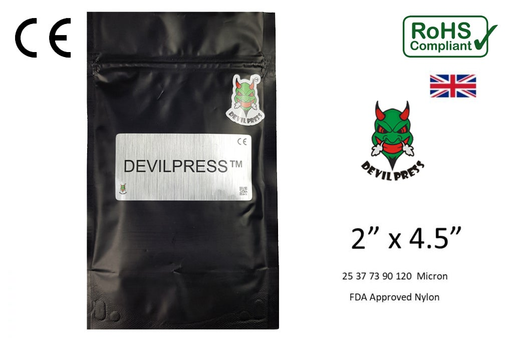 Image of DEVILPRESS™ 2 X 4.5 Rosin Press Extraction Micron Bag