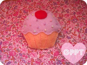 Image of Yummy cupcake pin.
