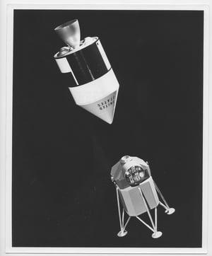 Image of Original Nasa Apollo Prototype 8X10 photographs 1963 Spacecraft Rocket from Apollo 11 -12 Moon walk.