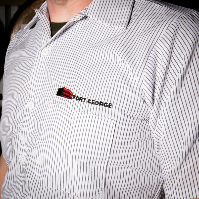 Image of Pin Stripe Work Shirt