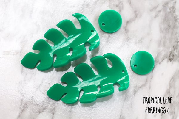 Sample Sale Heat Moulded Tropical Earrings Lime & Green (other options available) - Black Heart Creatives