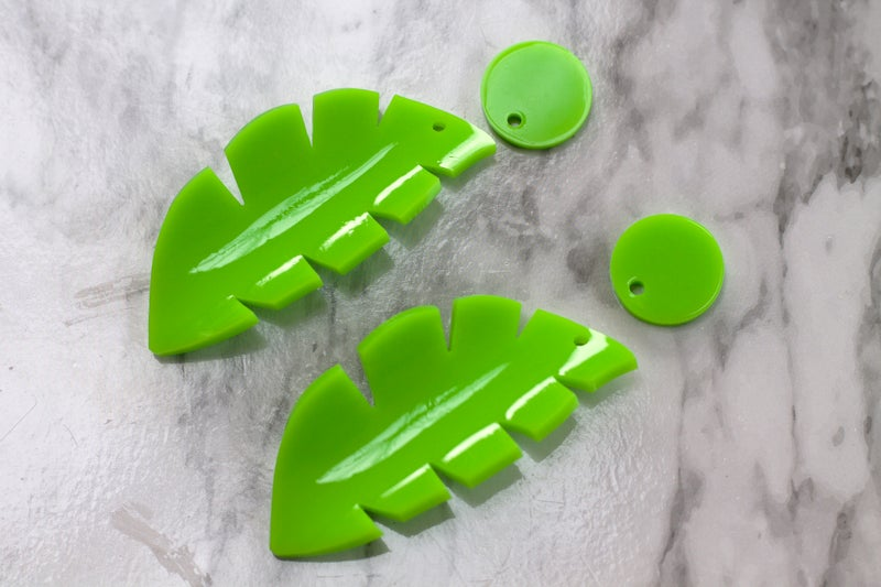 647d91009 Sample Sale Heat Moulded Tropical Earrings Lime & Green (other options  available)