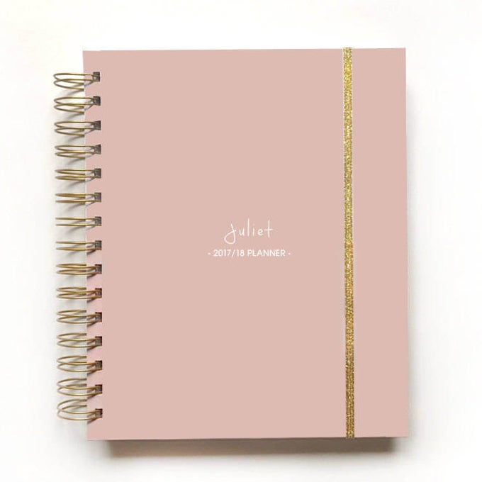 Image of 2018/19 2019 personalized elegant planner blush