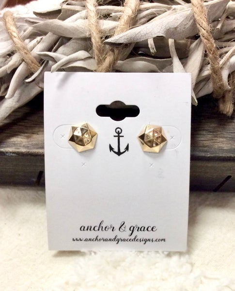 Image of Gold Nugget stud earrings